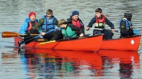 Explorer canoeing