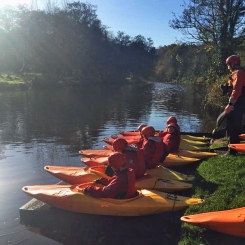 Canoeing on the Lagan