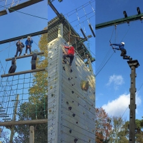 Explorers climbing at Belfast Activity Centre